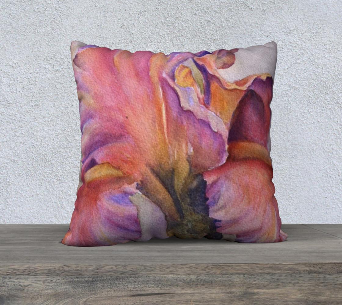 Pink Iris Pillow Case preview #1