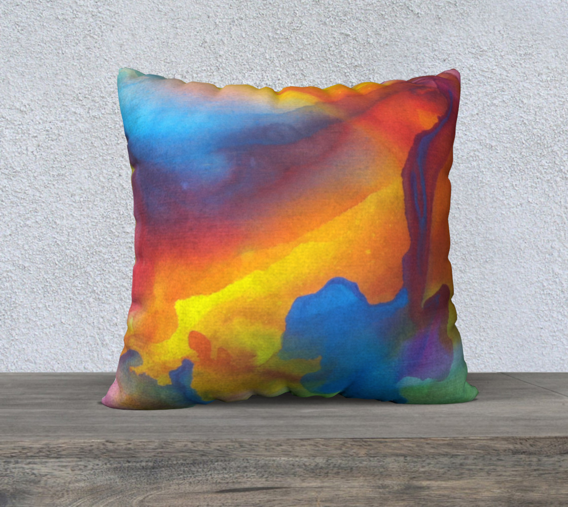 Summer Swirl Pillow Square preview #1