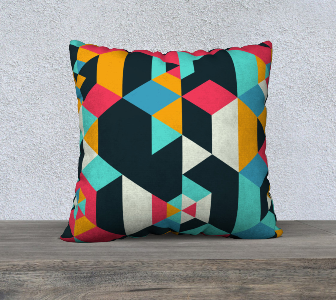 Modern Colorful Geometric Pillow preview #1