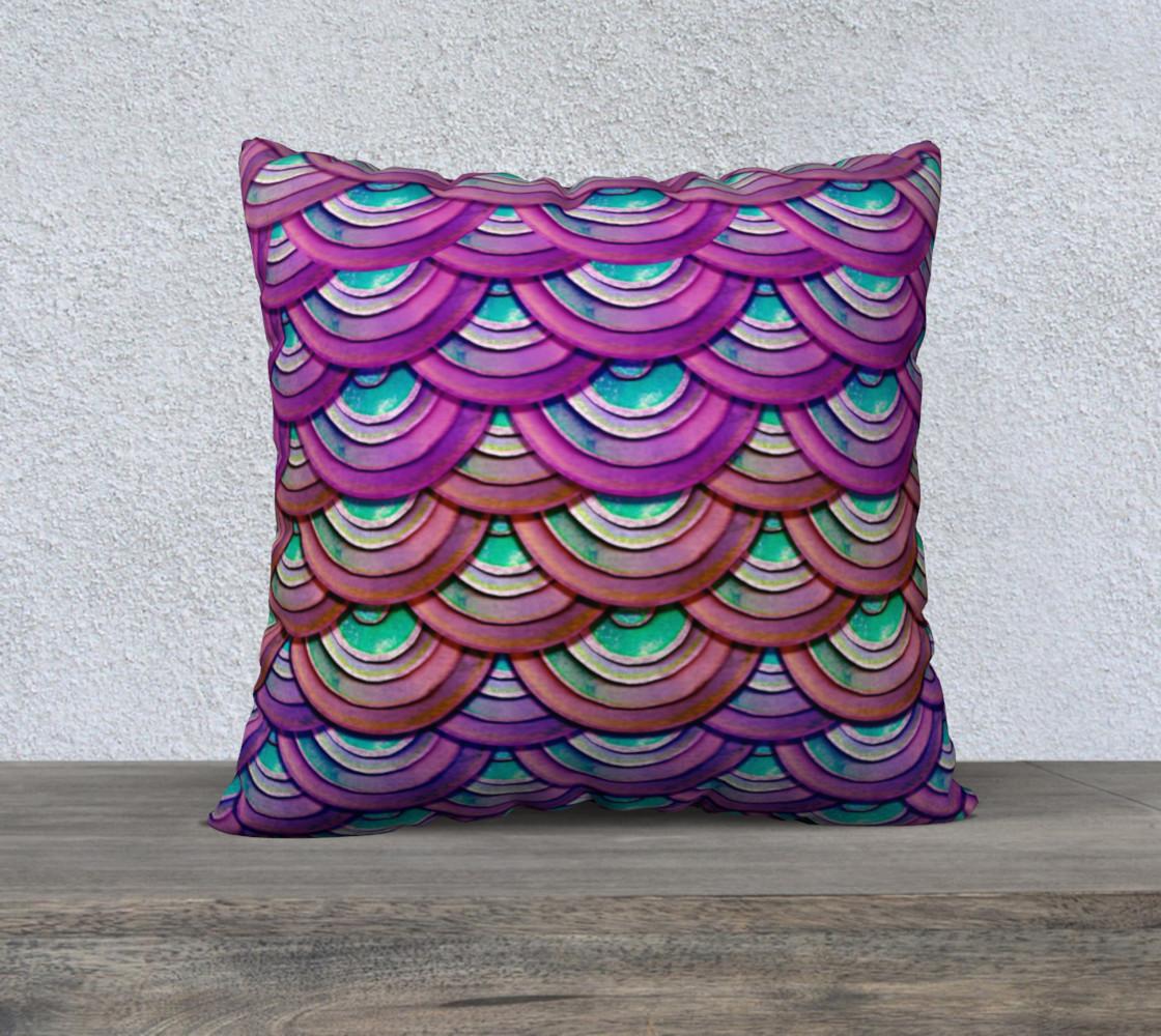 Purple Mermaid Dragon Scale Pillow Case  preview #1