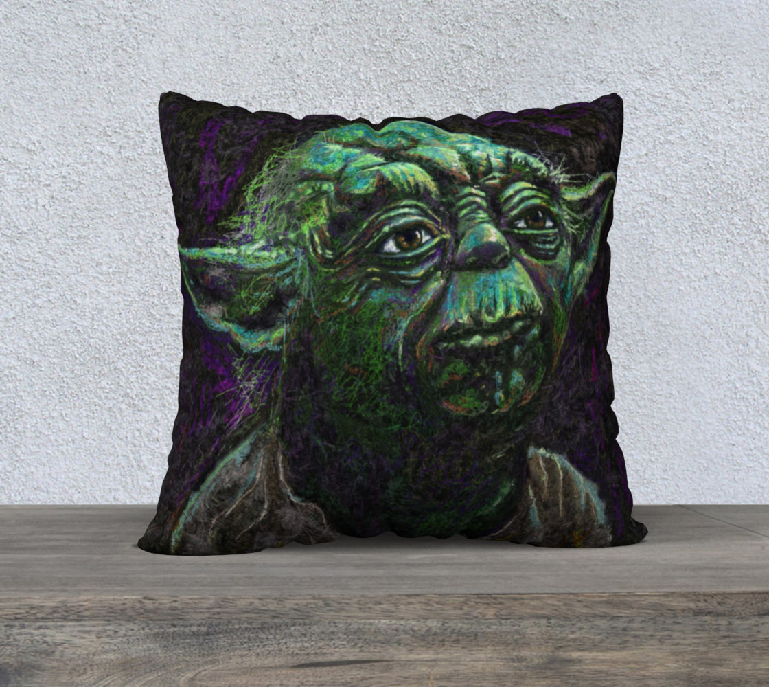 Yoda Square Throw Pillow preview #1