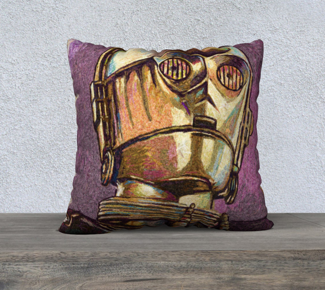 C3PO Square Throw Pillow preview #1