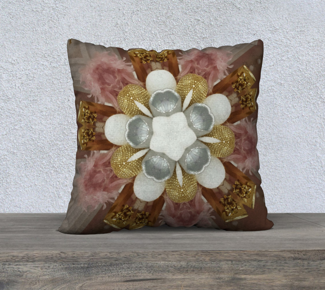 Elegant Antique Pink Shiny Gold Silver White Flower preview #1