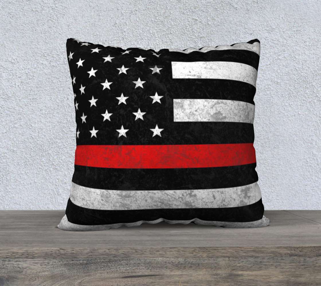 Thin Red Line Pillow Cover preview #1