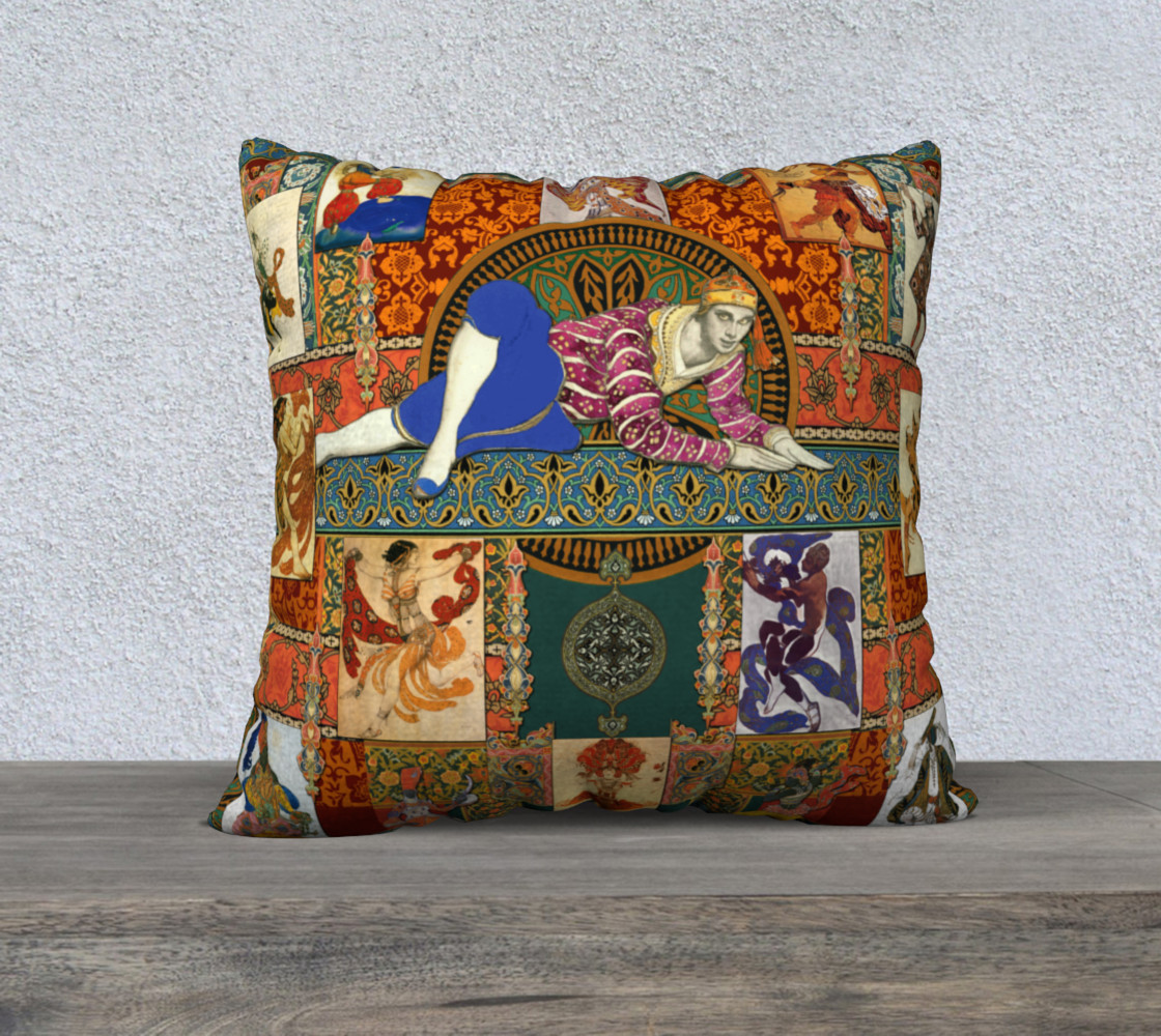 Aperçu de Ballets Russes Tapestry - 22x22 Pillow Case #1