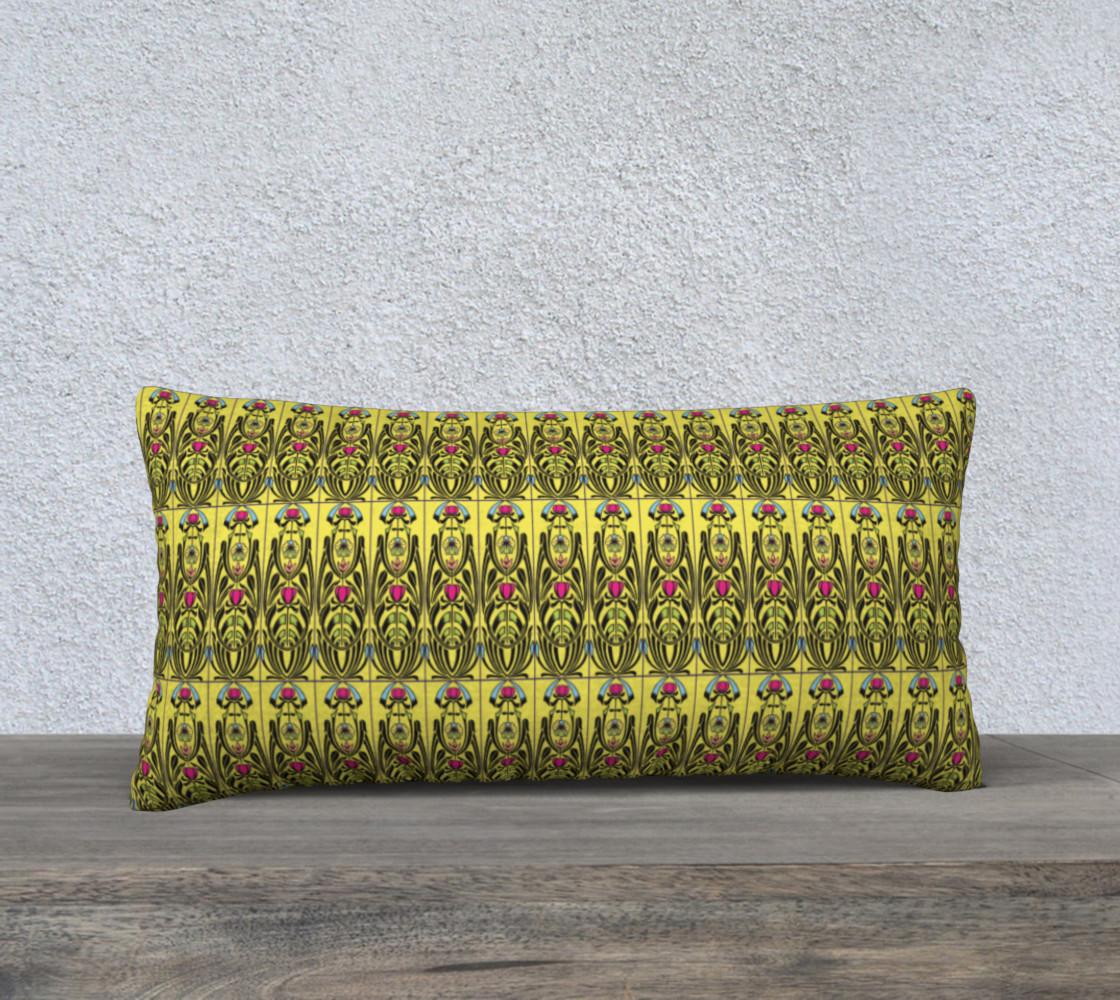 Yellow Nouveau 24 x 12 Pillow Case preview #1
