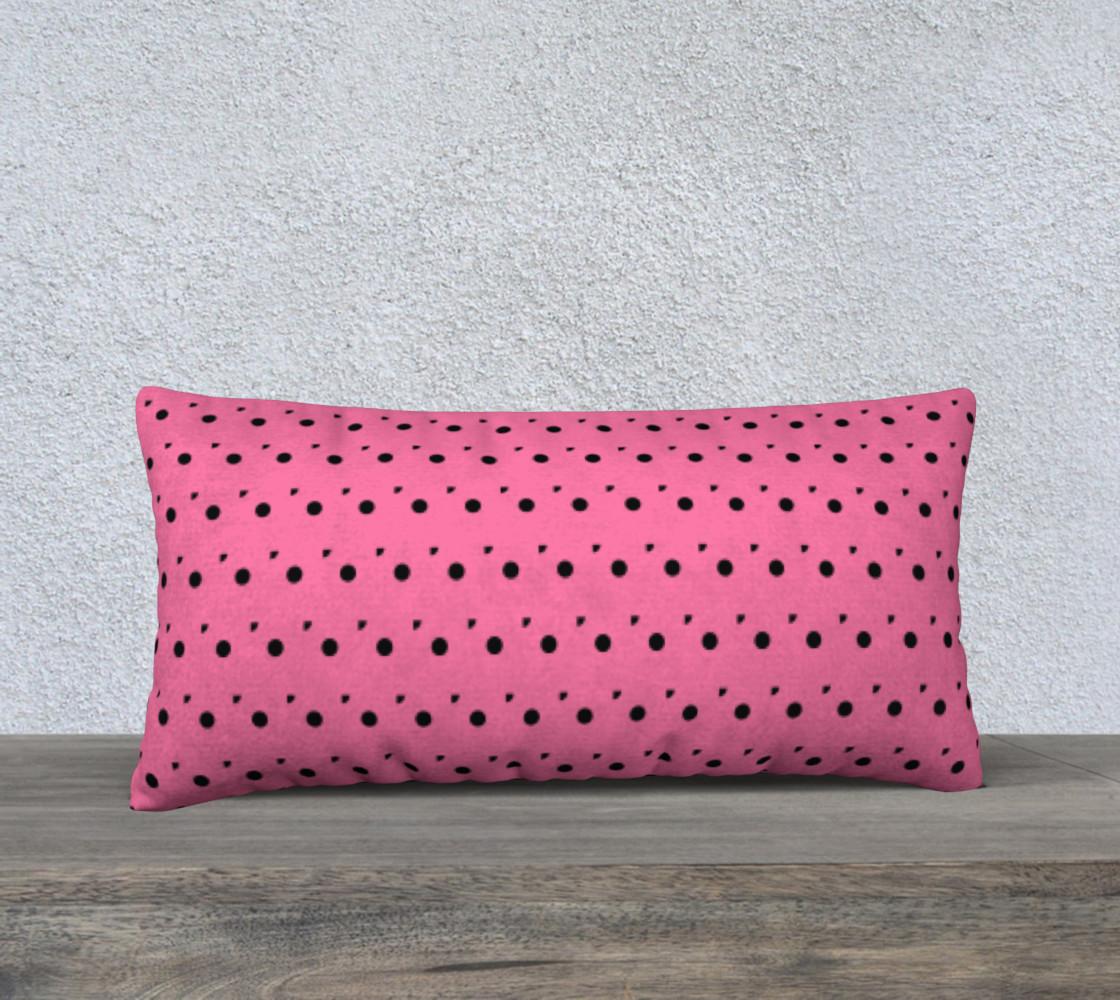Aperçu de Tracks Bubble Gum 24 x 12 Pillow Case #1