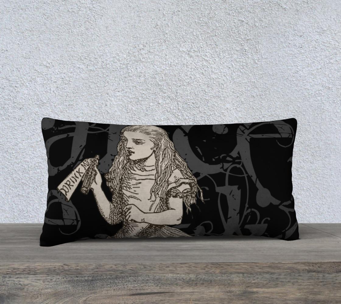 Aperçu de Alice In Wonderland Grunge Alice Pillow (24x12) #1