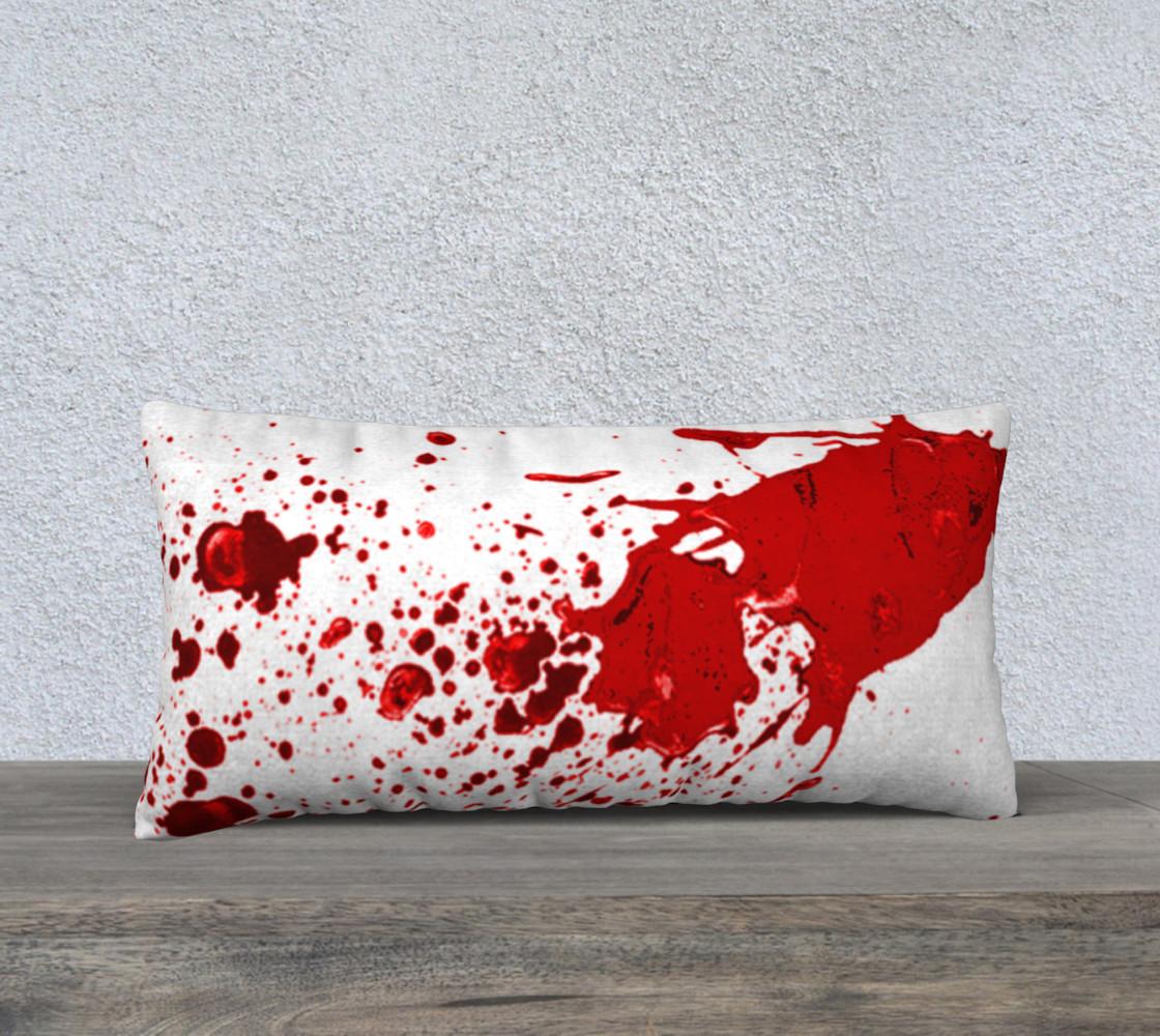 Blood Splatter First Cosplay Halloween Pillow Case 24 x 12 preview #1