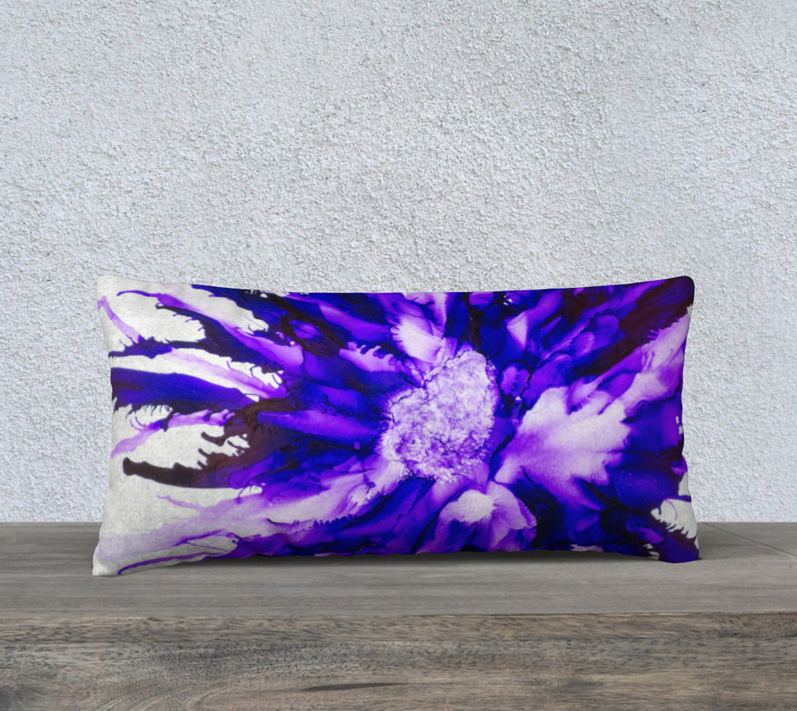 Abstract Purple Flower Alcohol Ink Art  preview #1