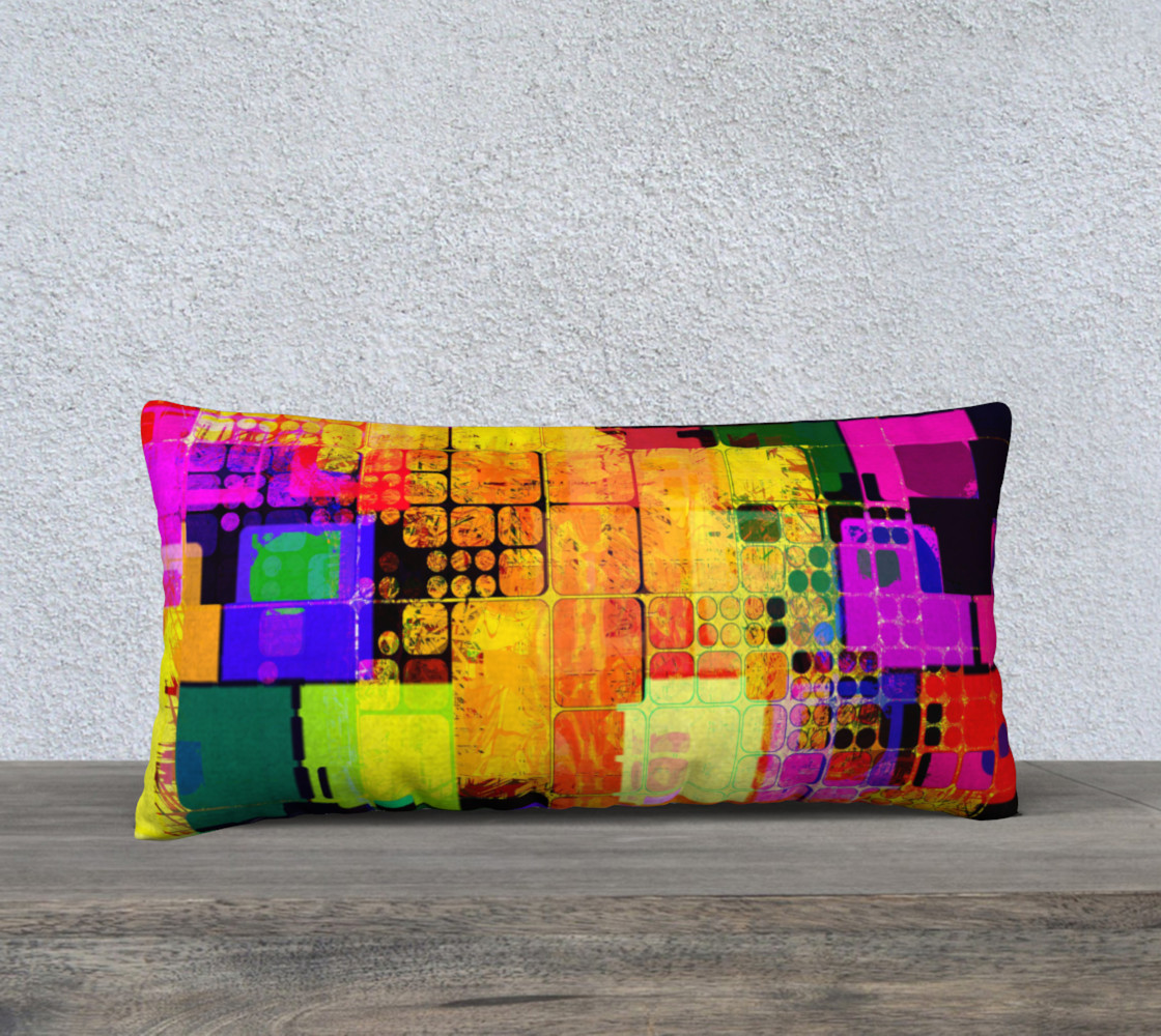 Colorblock Abstract Pillow1 preview #1