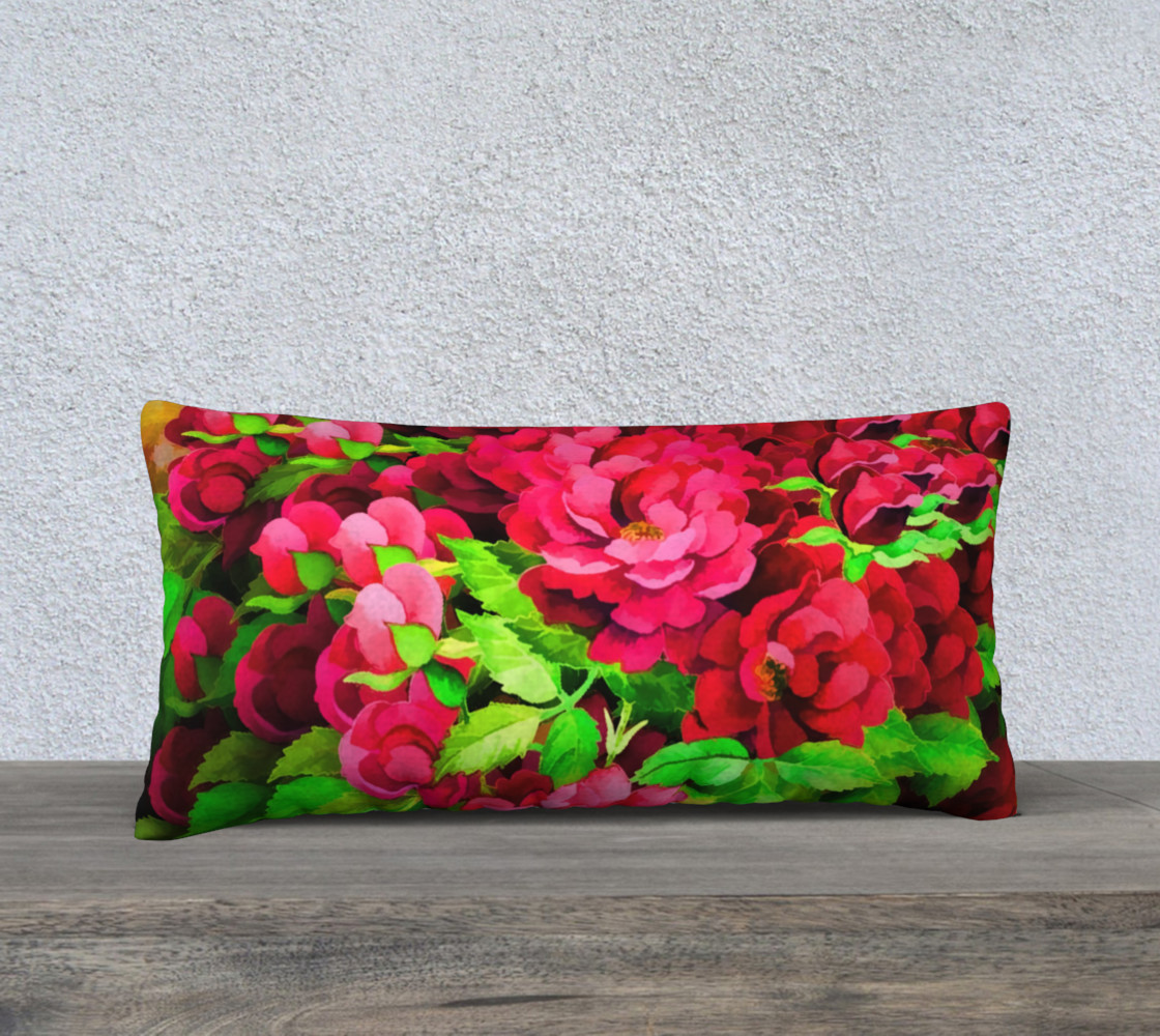 Floral Rose Pillow 2 preview #1
