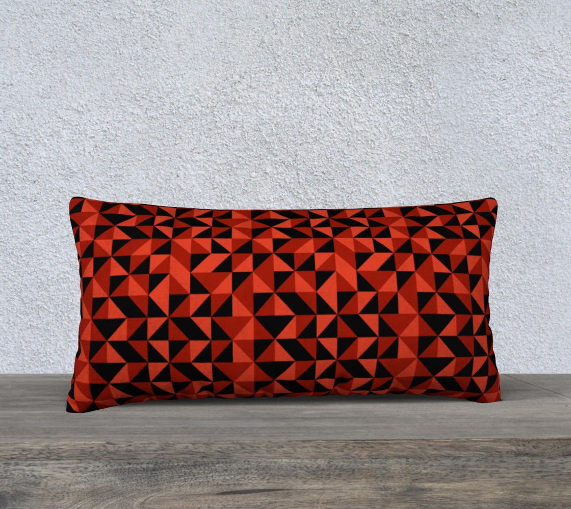 Red Triangles 24x12 Pillow Case preview #1