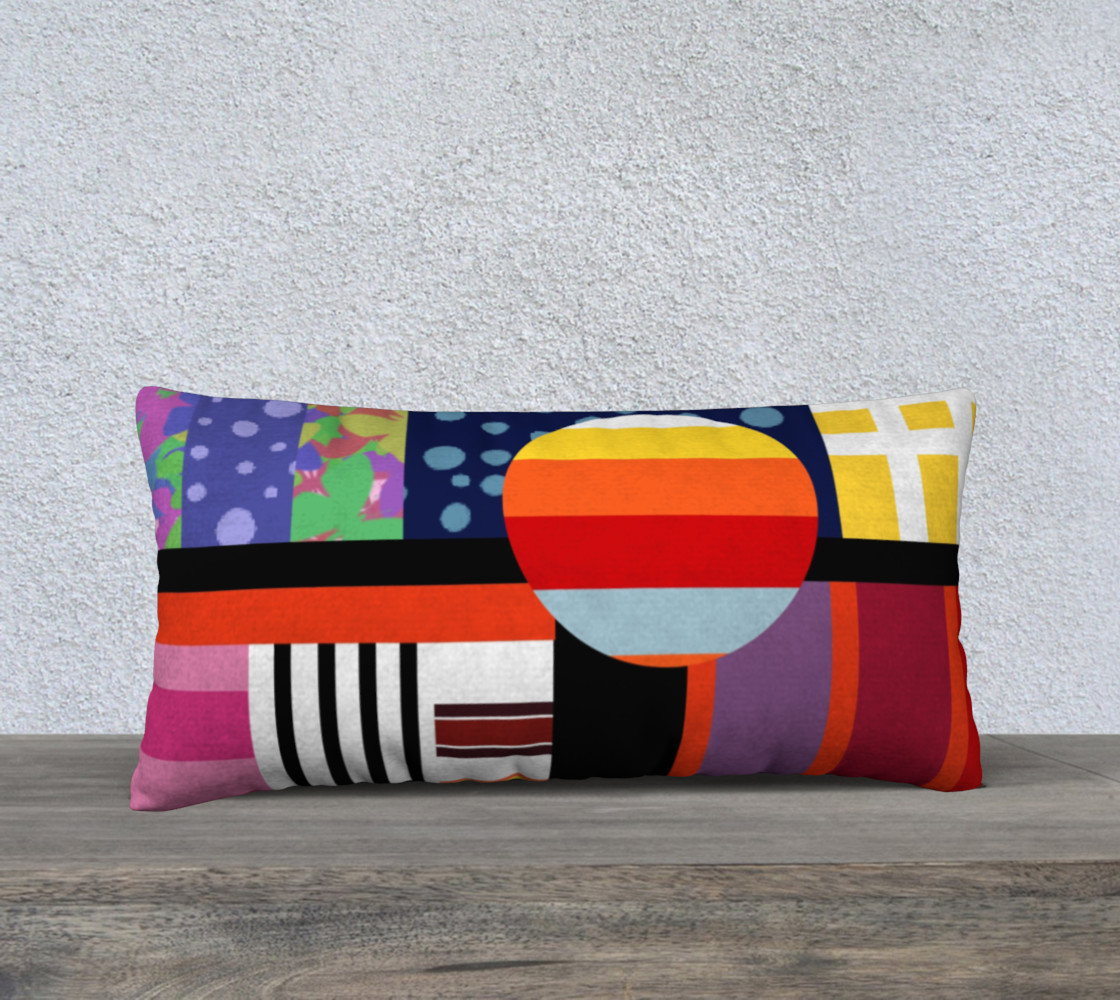 Aperçu de bright colourful pillow #1