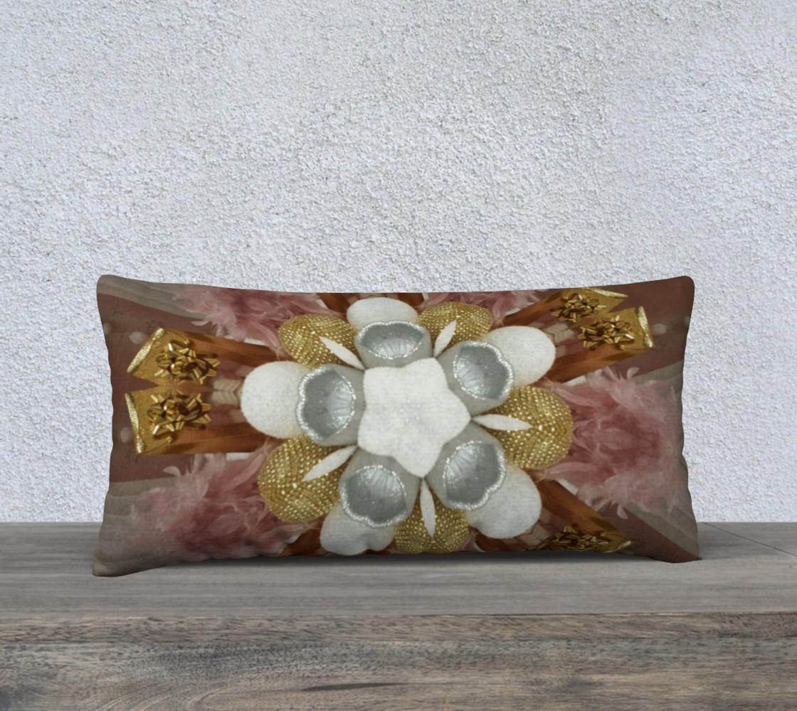 Aperçu de Elegant Antique Pink Shiny Gold Silver White Flower #1