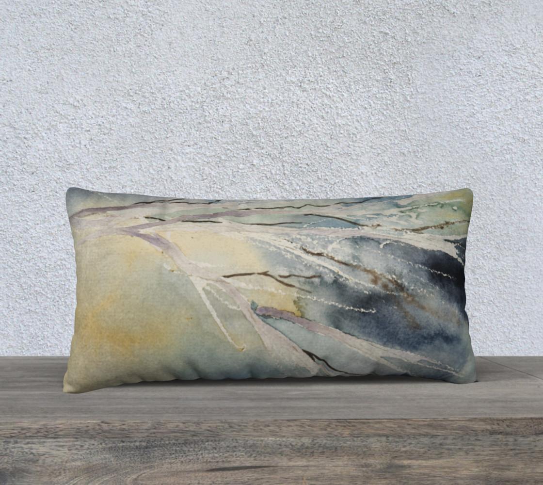 Aperçu de Lumbar Pillow of Winter Branches #1
