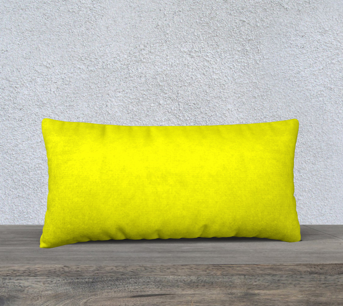 Bright Yellow Pillow Case preview #1