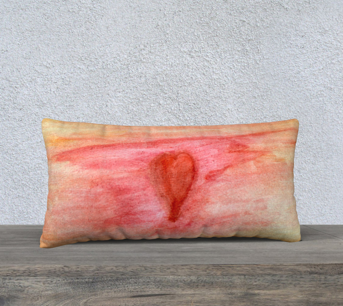 Radiating Heart Pillow Case Style2 preview #1