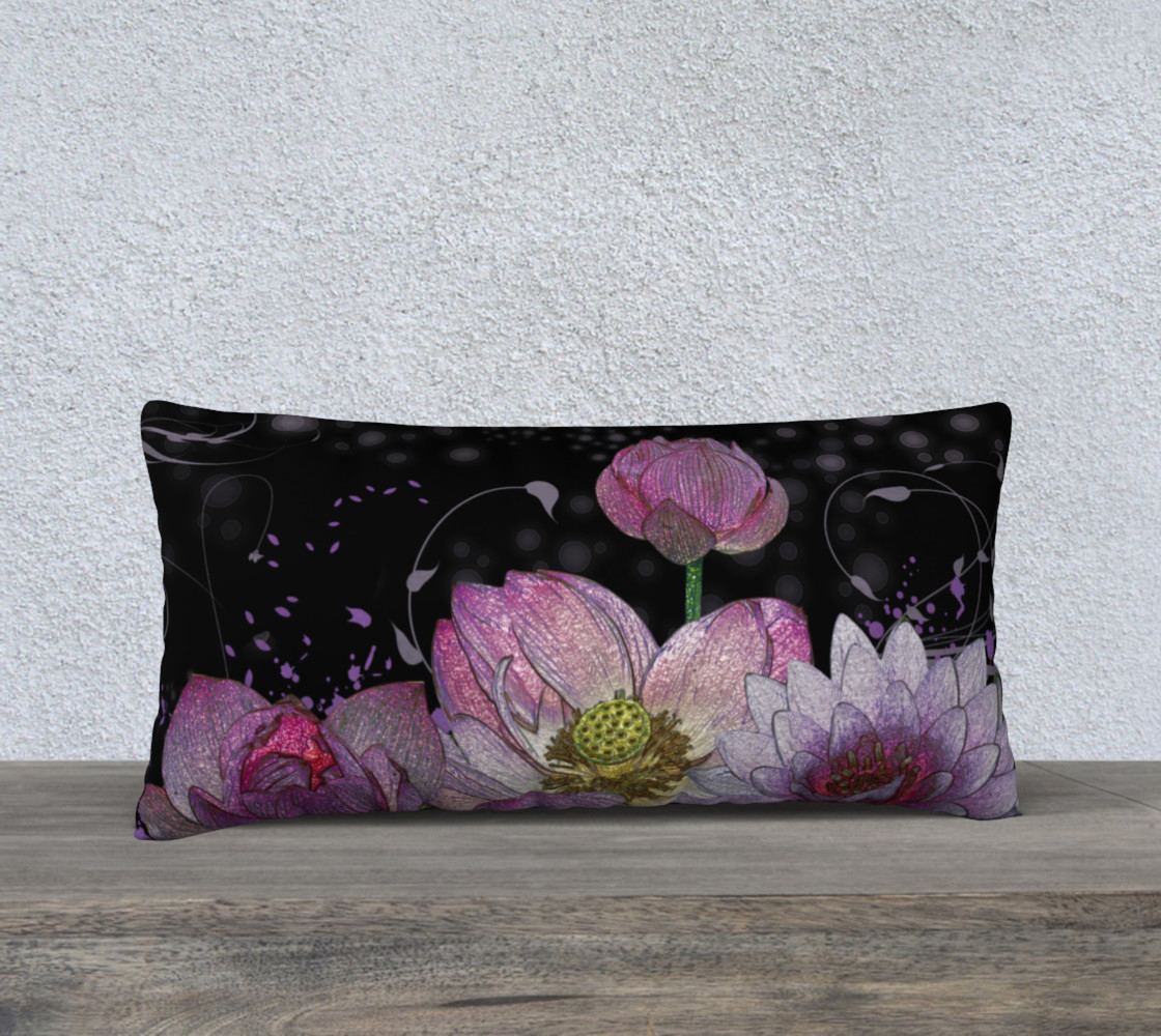 "Mystical Lotus 24"" x 12"" Pillow Case preview #1"