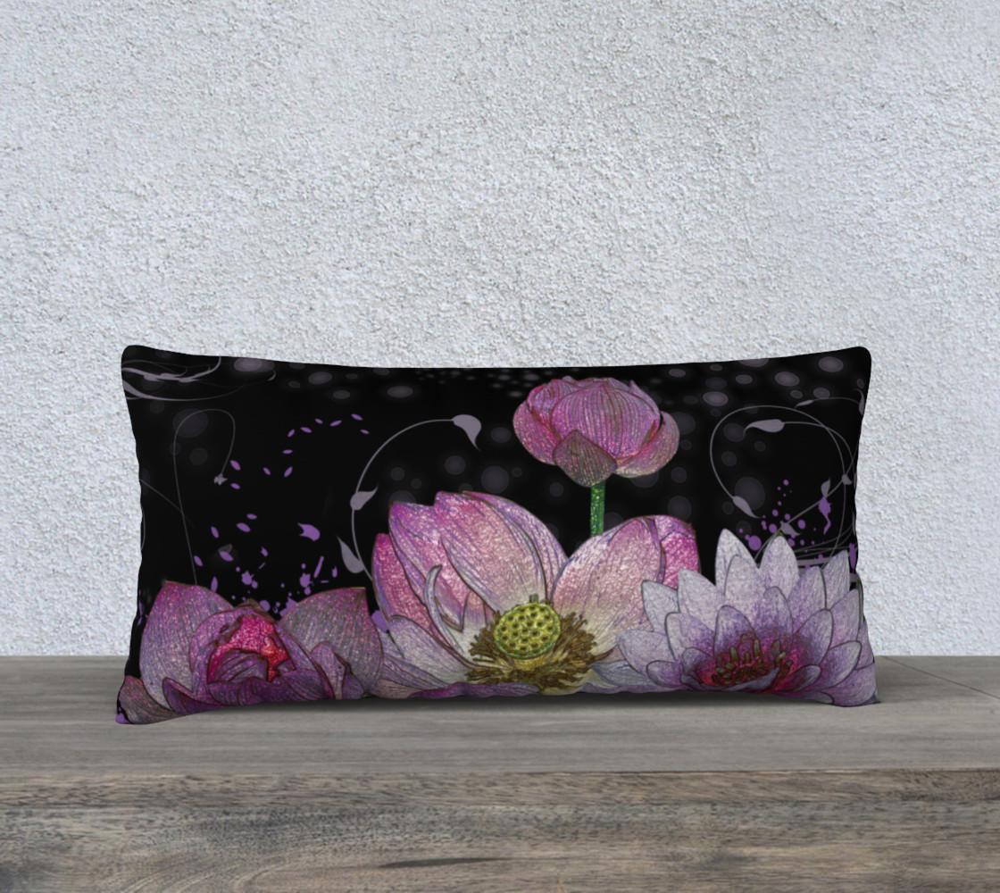 "Mystical Lotus 24"" x 12"" Pillow Case preview #1"