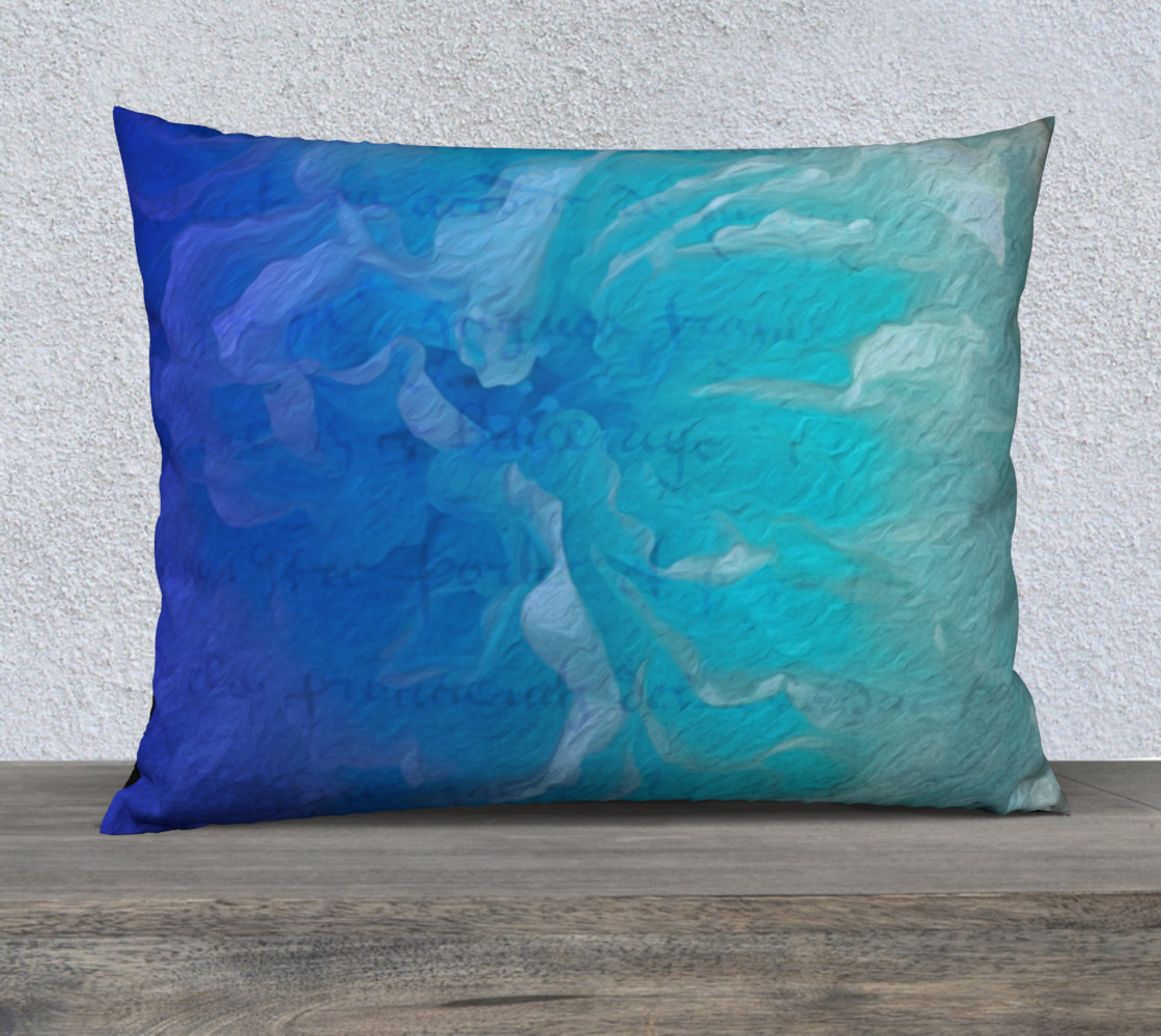 Blue I So Hope 26 x 20 Pillow Case Miniature #2