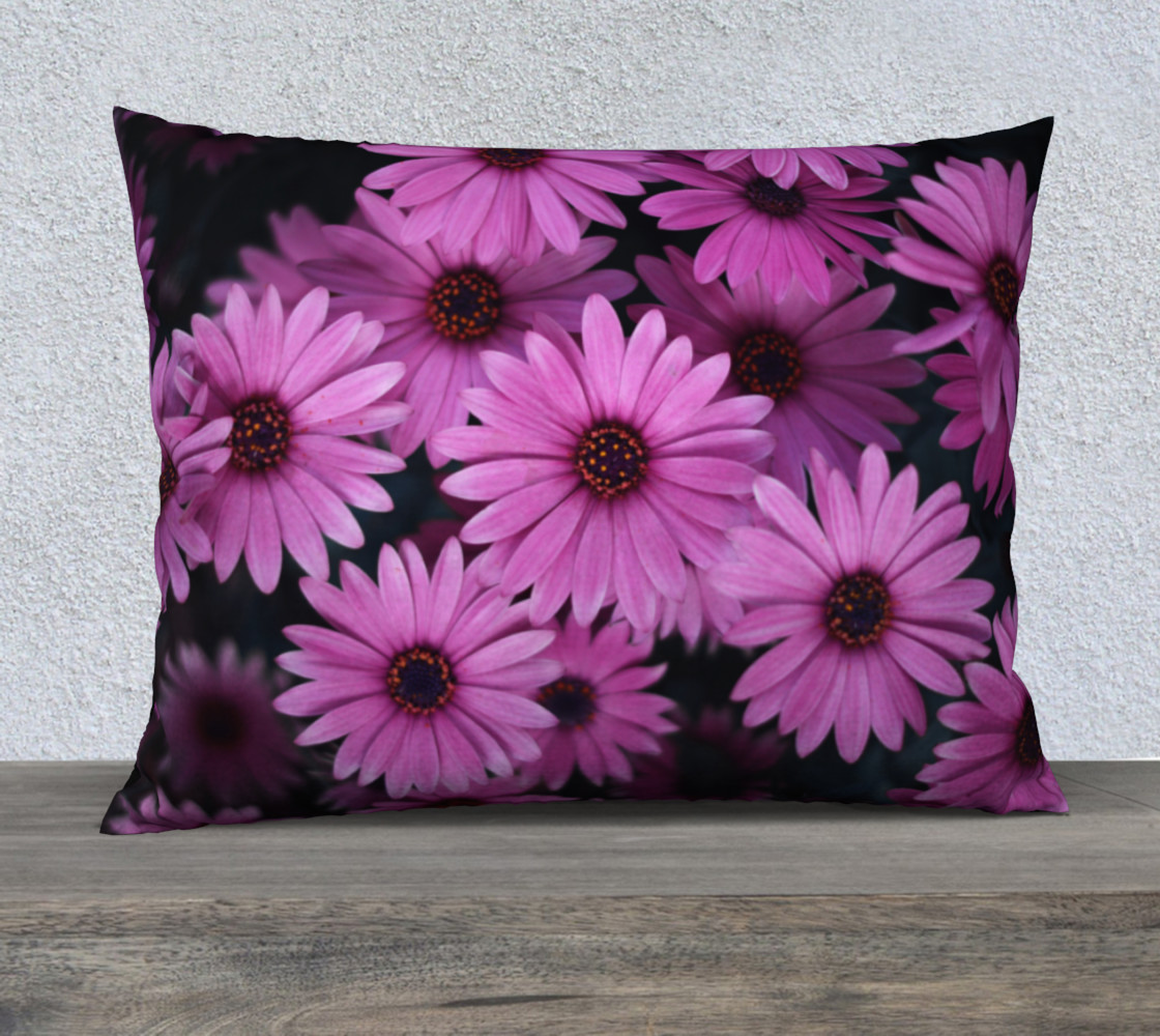 Pericallis Purple Flower Pillow Case 26x20 preview #1