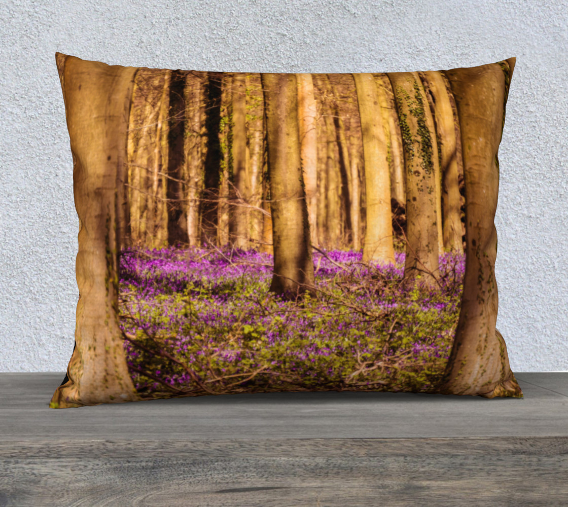 Forest with Purple Flowers 26 x 20 Pillow Case preview #1