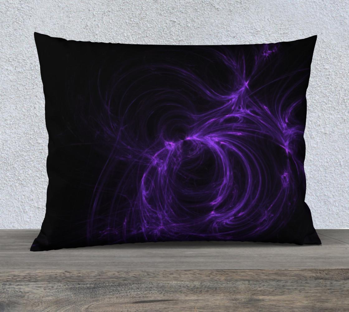 Purple Fractal on Black Pillow Case 26 x 20 preview #1