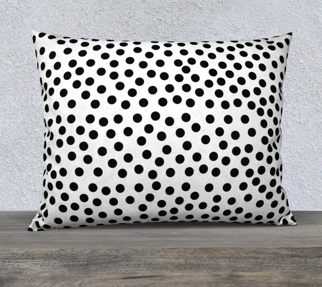 Black Polka Dots Large Pillow preview #1