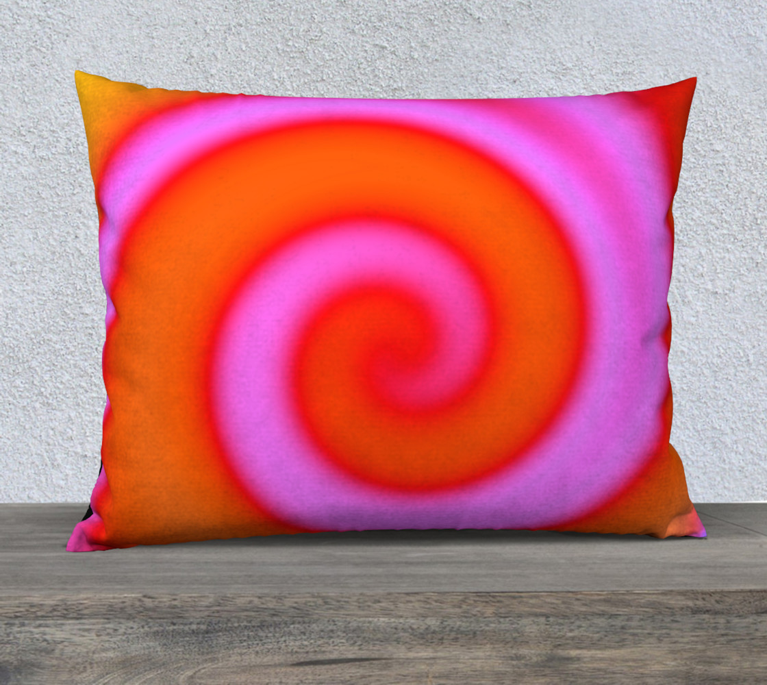 Bright Colorful Orange Pink Swirl Abstract preview #1