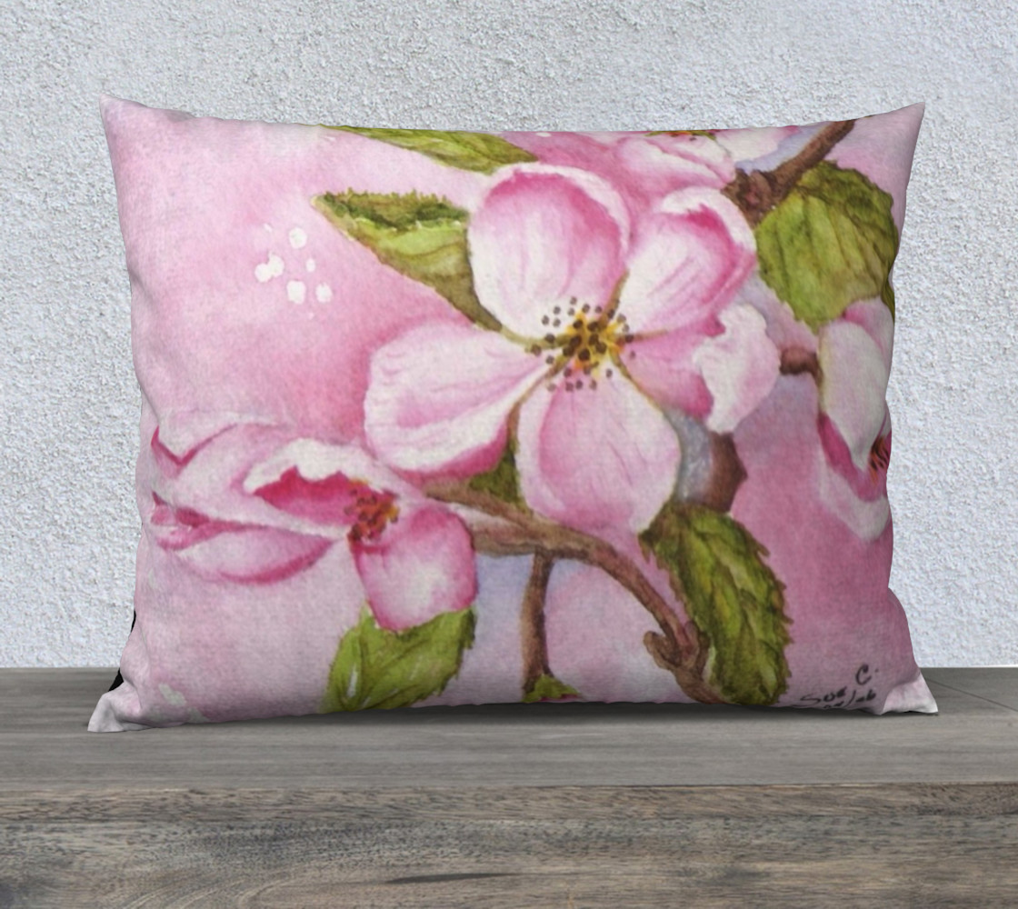 SPRING TIME WATERCOLOR PINK APPLE BLOSSOMS preview #1