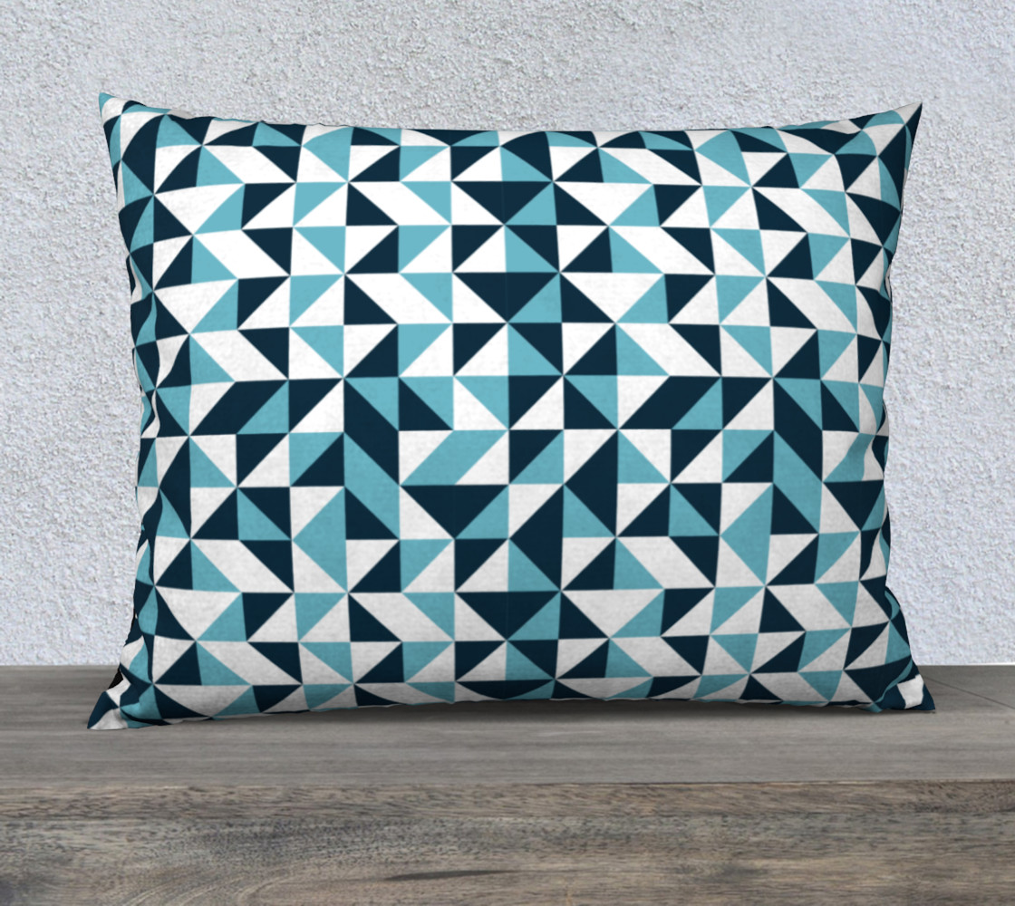 Blue Triangles 26x20 Pillow Case preview #1