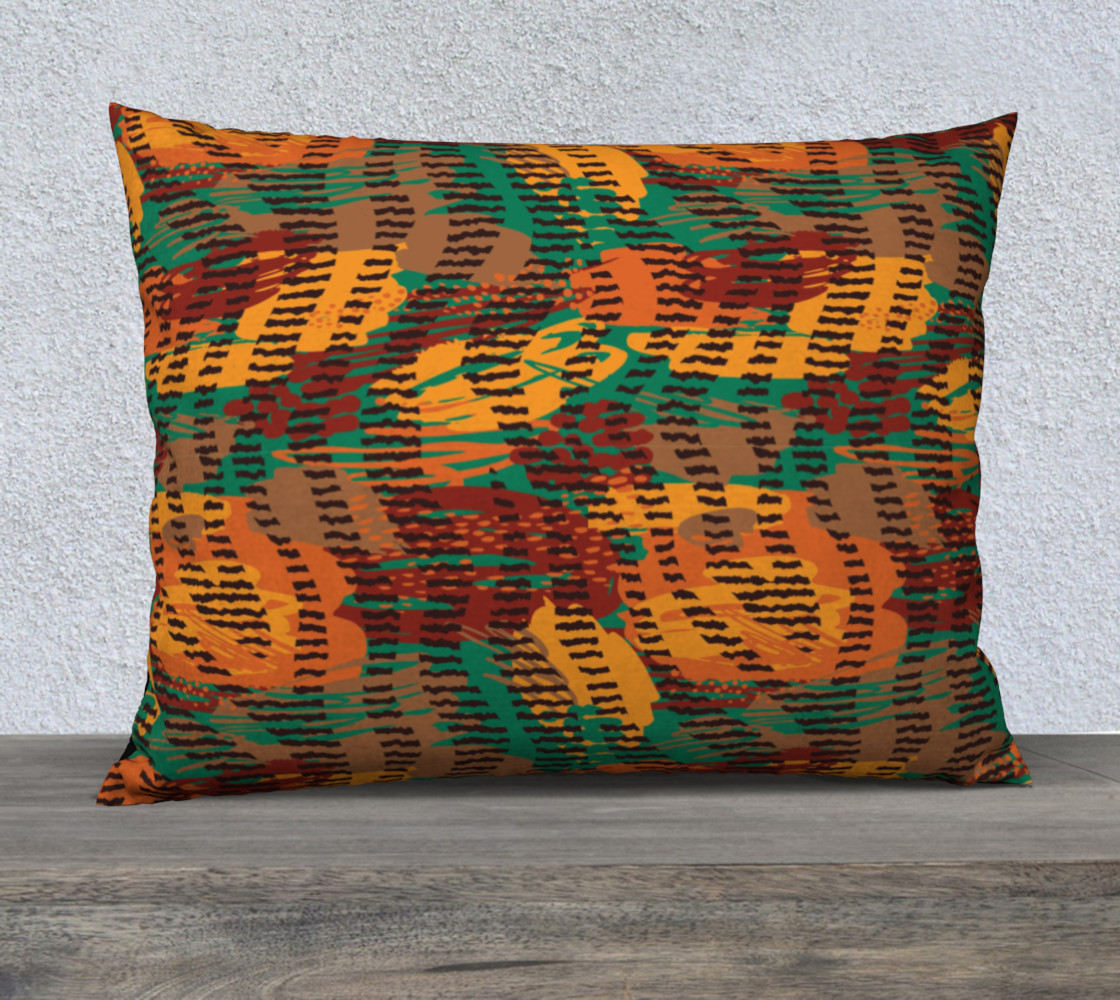 """Abstract Animal Stripes 26"""" x 20"""" Decorative Pillow Case preview #1"""