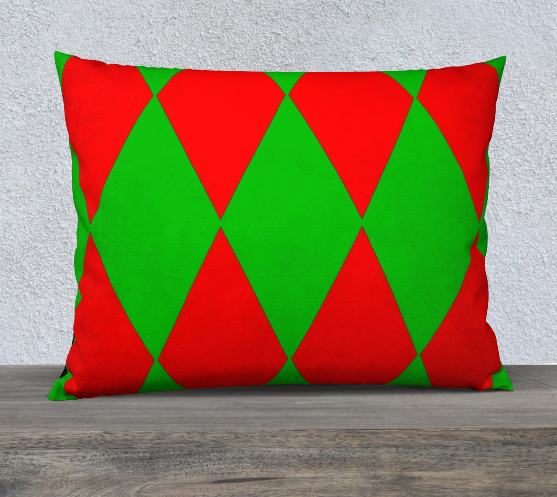 Christmas Harlequin Diamond 26/20 Pillow CAse preview #1