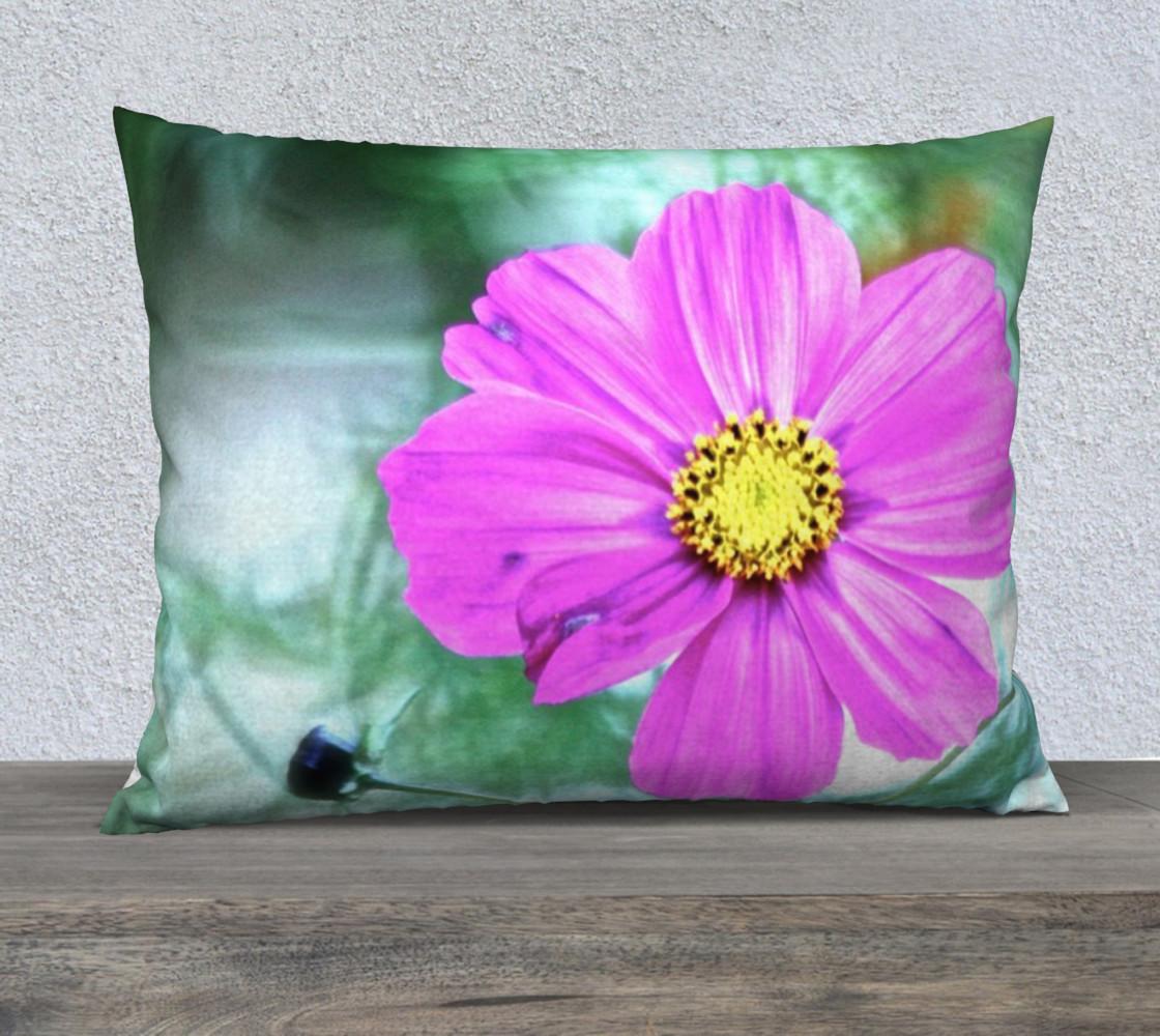 Aperçu de pink flower pillow #1