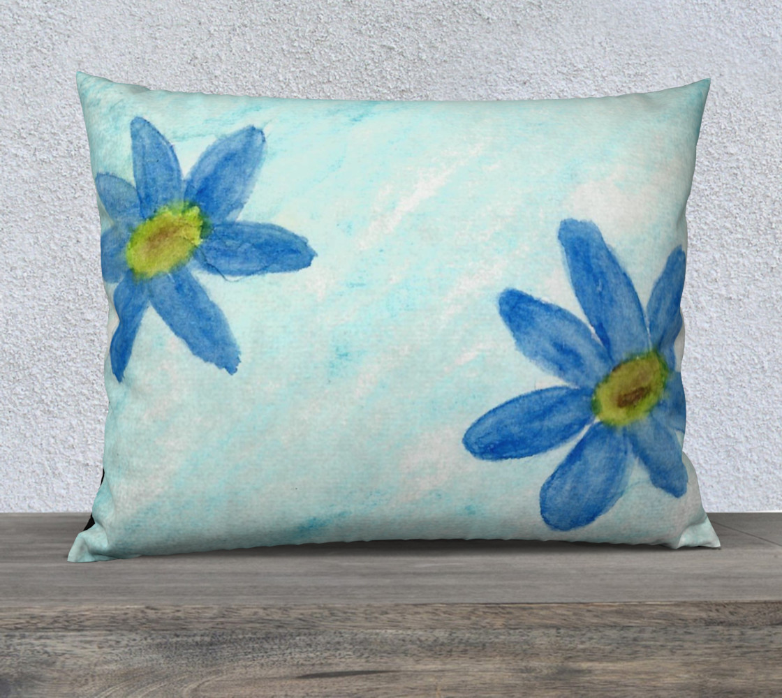 Simply Blue Flowers Pillow Case Style3 preview #1