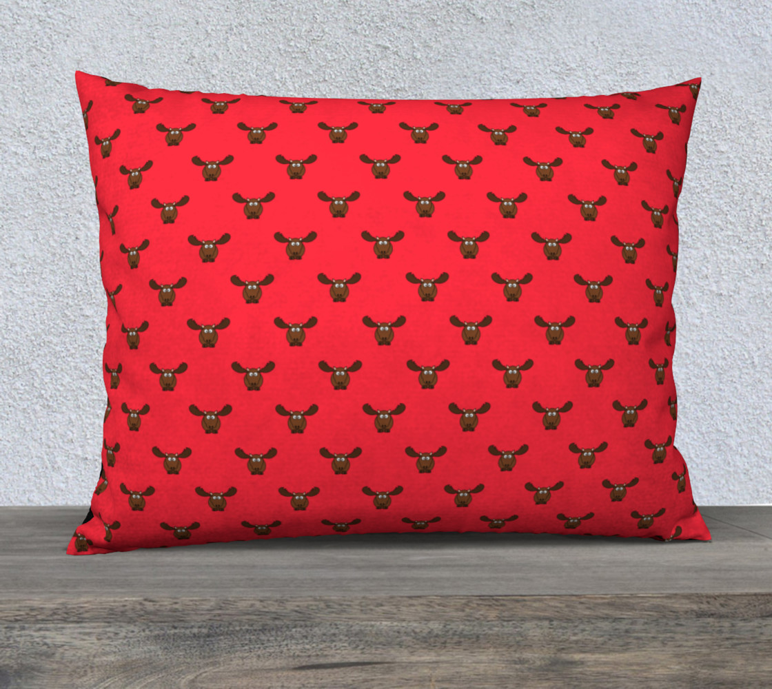 Raspberry Moose Pillow Case 3D preview
