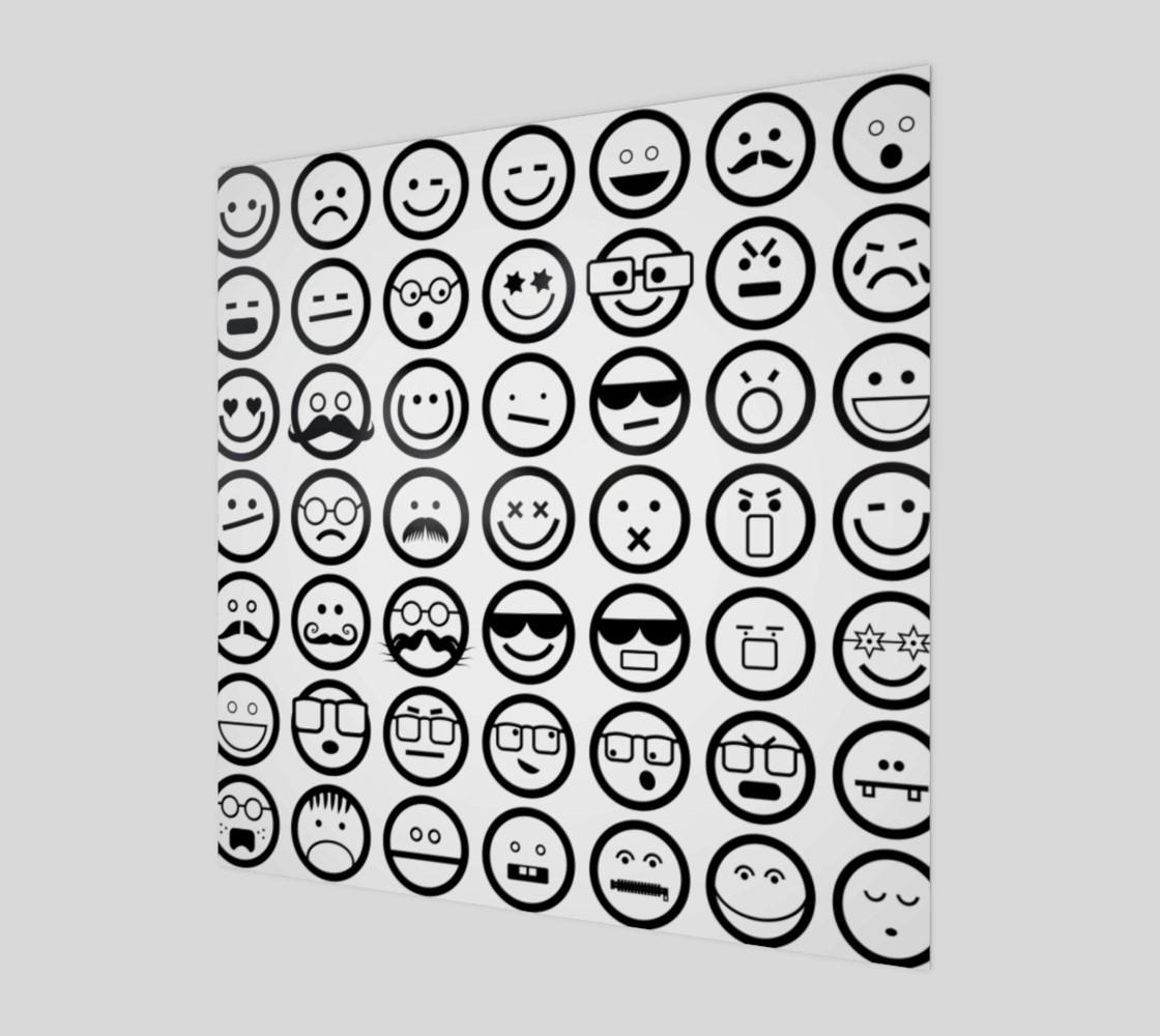 Black & White Emoji Faces preview #1
