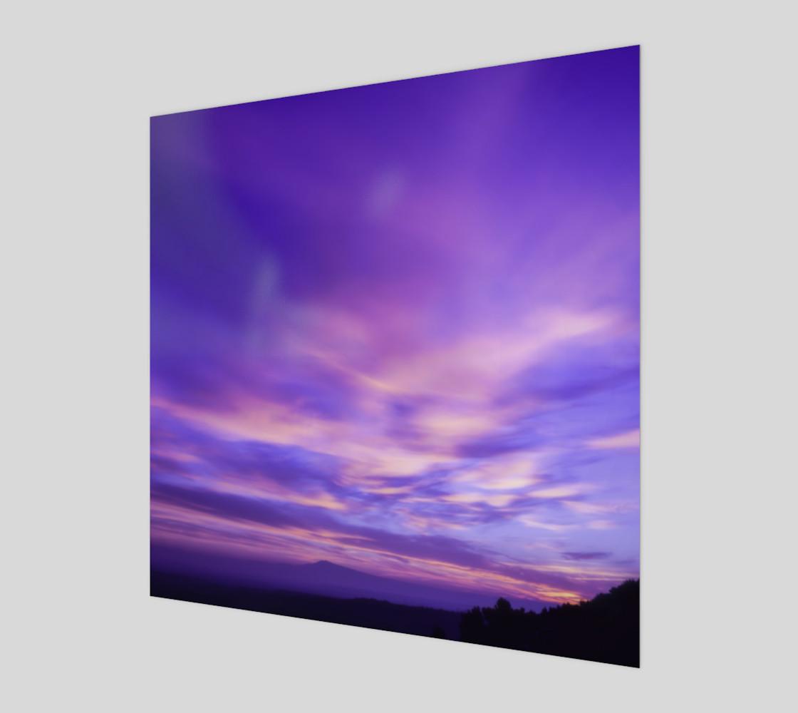Purple Sunrise Canvas Wall Art preview #1