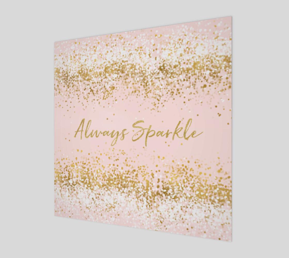 Blush Pink White Gold Confetti Always Sparkle preview #1