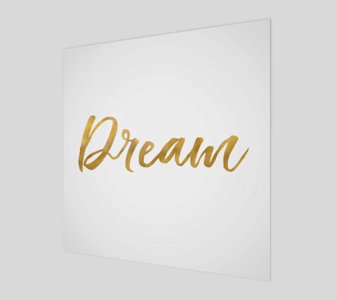 Gold White Inspirational Dream preview #1