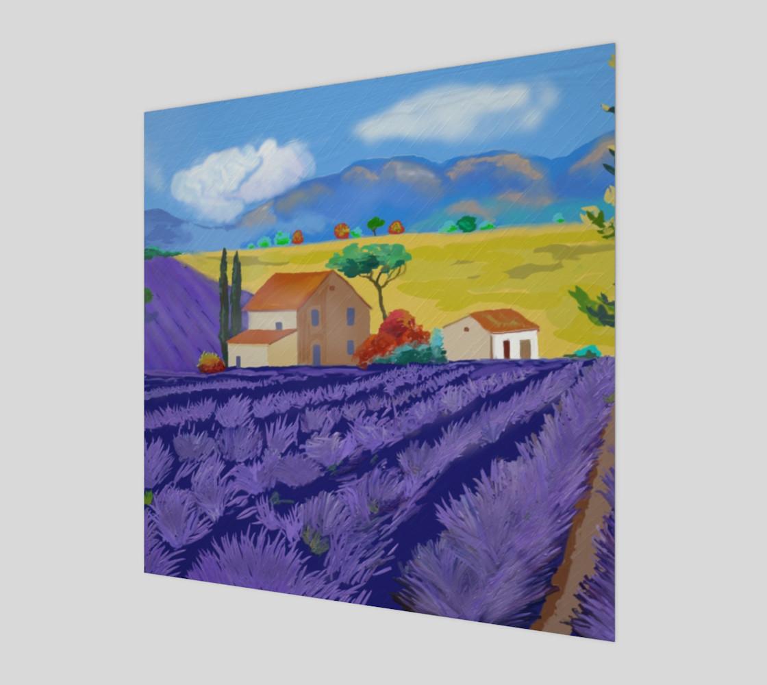 Lavender Farm Wall Art Canvas Art Print Poster Wood Print preview #1