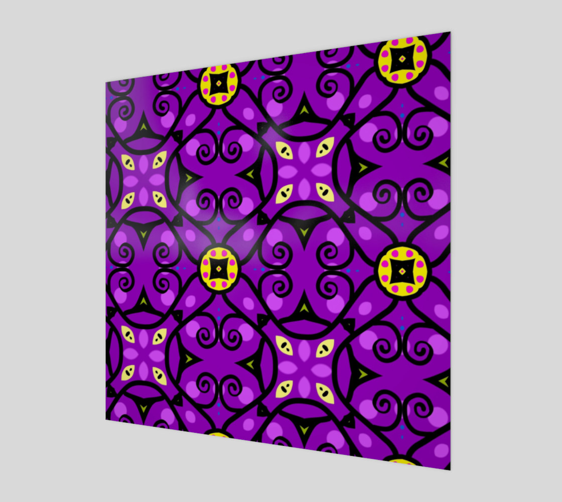 purple and gold art preview #1
