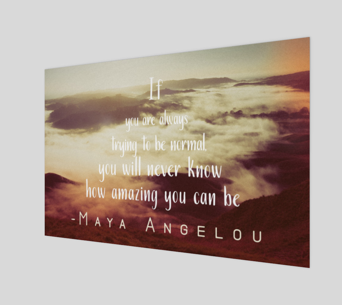 Maya Angelou 'amazing' quote - wall art preview #1