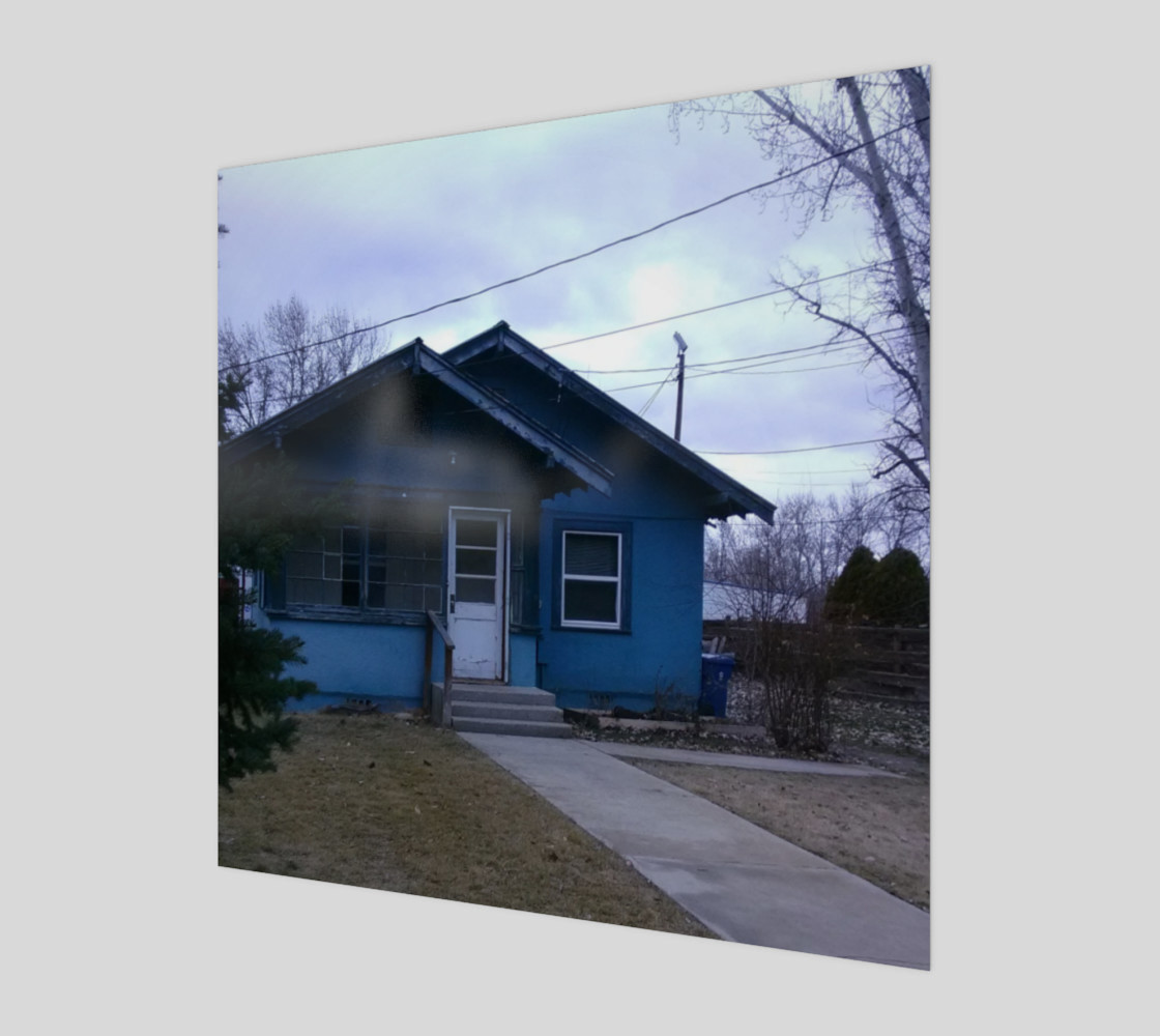 Little Blue House in GC ID Wall Art canvas preview #1