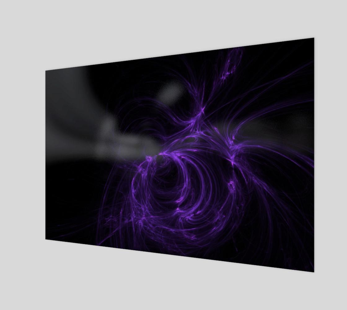 purple fractal wall art preview #1