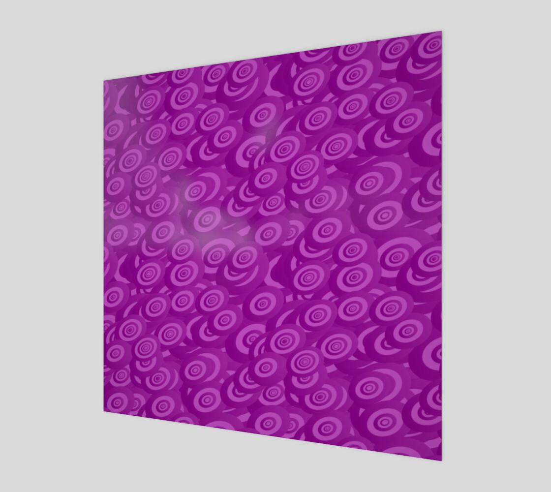 purple swirl wall art preview #1