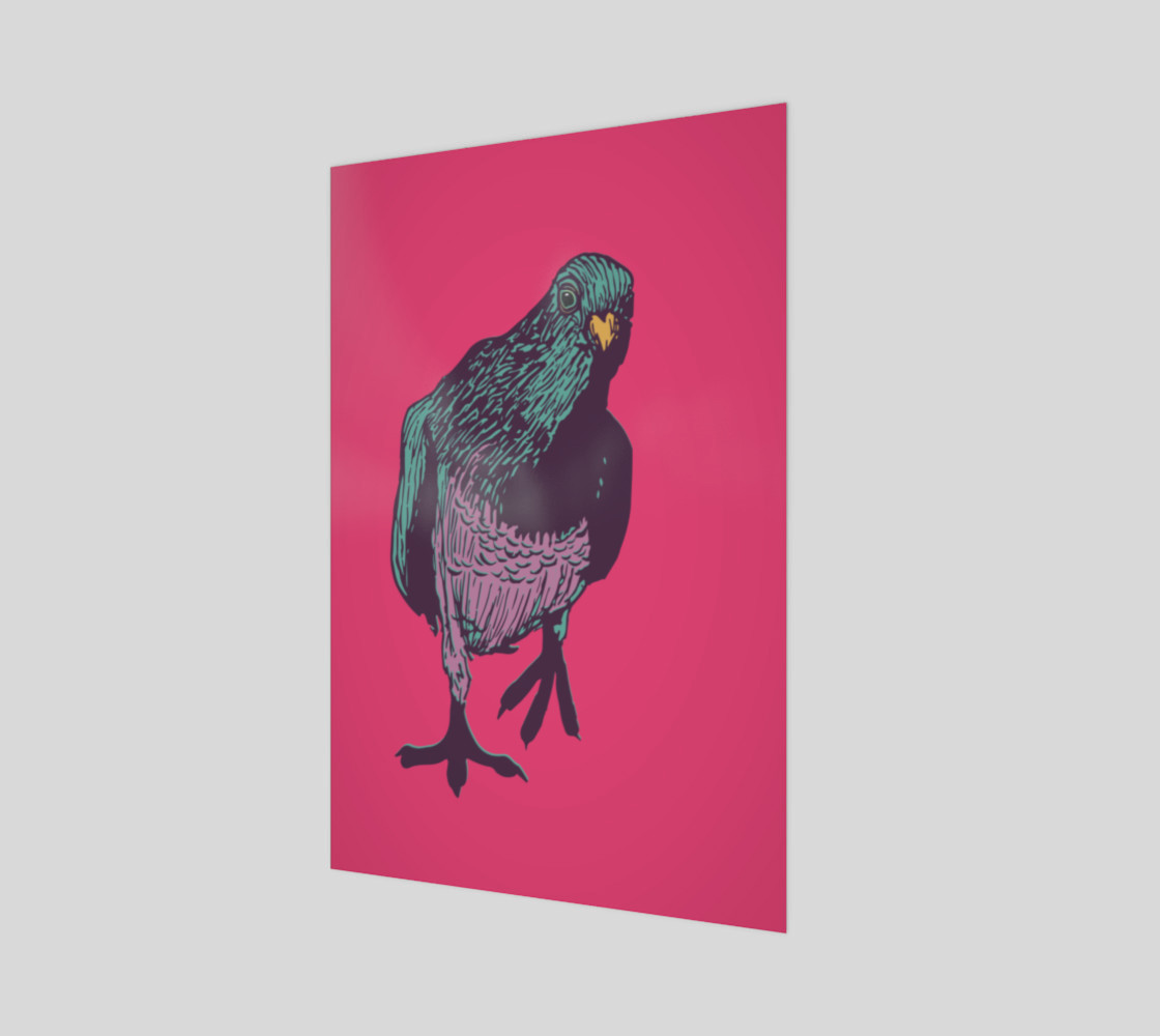 2:3 Poster - Curious Pigeon in Bright preview #1