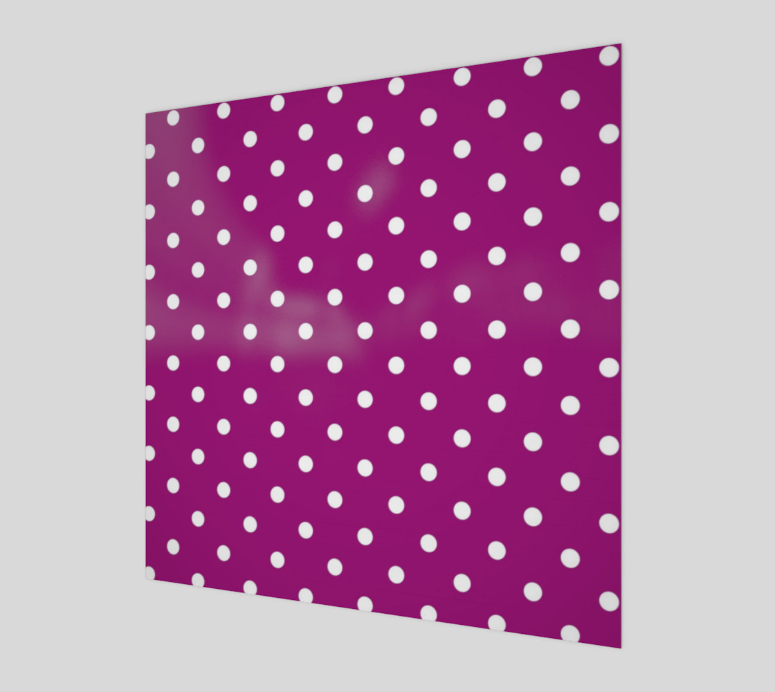 1950s Purple with White Polka Dots Wall Art preview #1