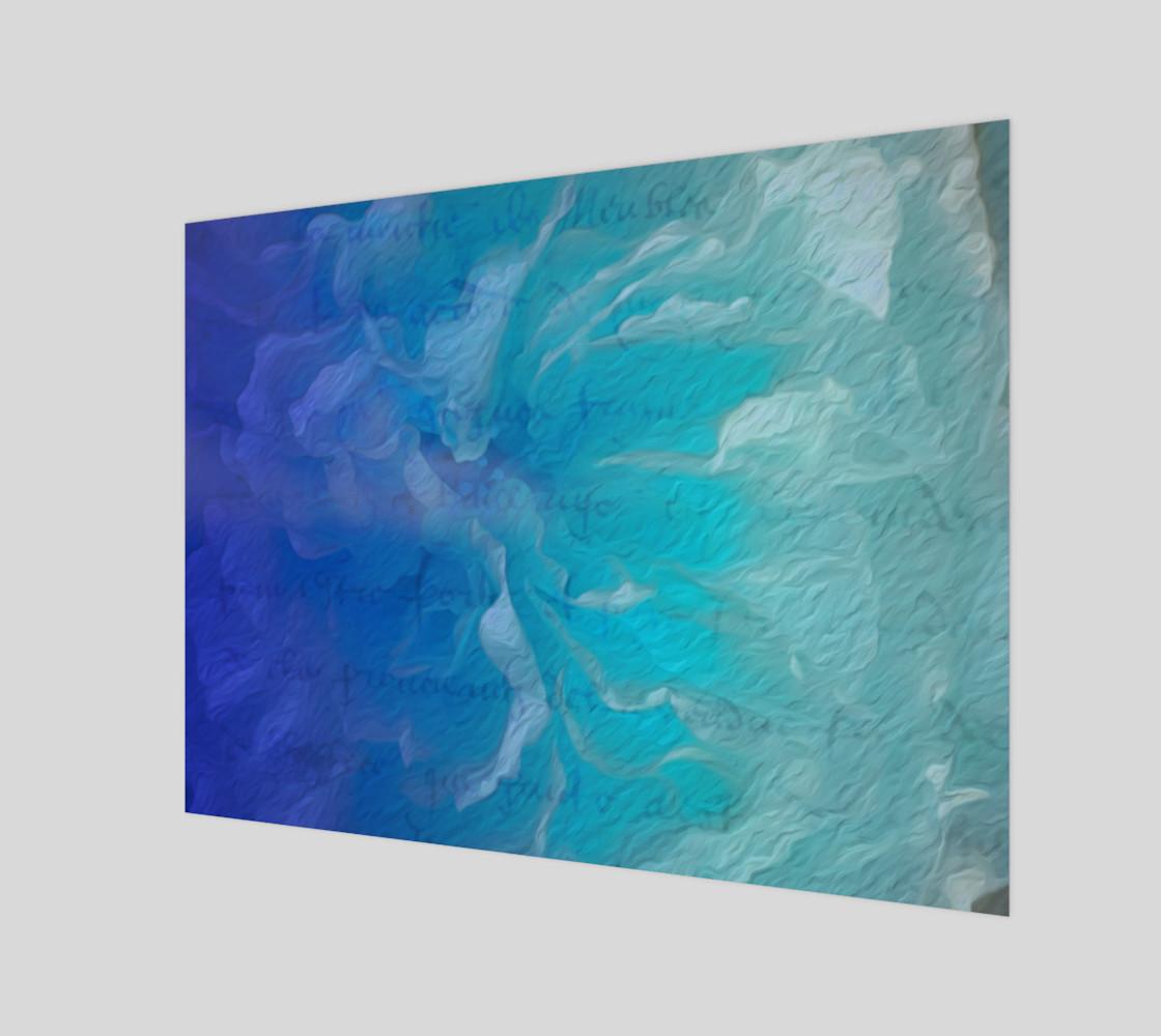 Aperçu de Blue I So Hope Canvas Print Landscape #1